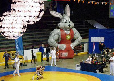 custom wrestling infltable rabbit