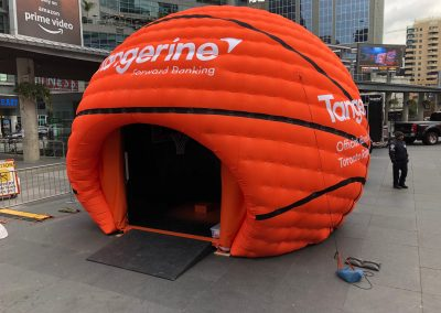 inflatable basketball dome