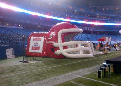 Inflatable Football Helmet Tunnel Scotiabank