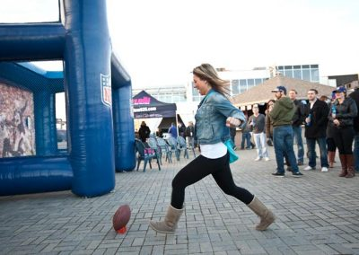 NFL Inflatable Kick and Throw Taget Unit