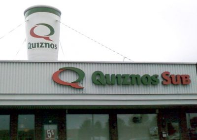 Quiznos Giant Rooftop Balloon